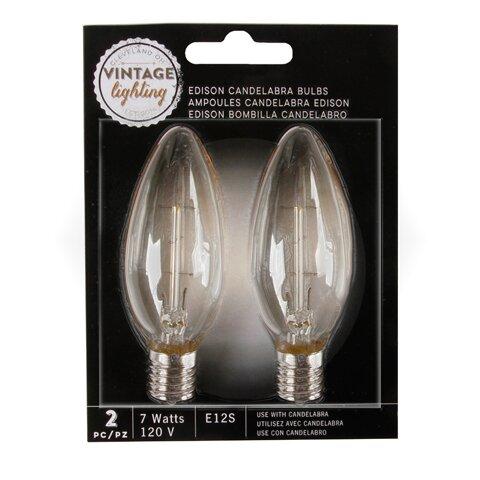 7W E12S Edison Light Bulb (Set of 2) by Darice
