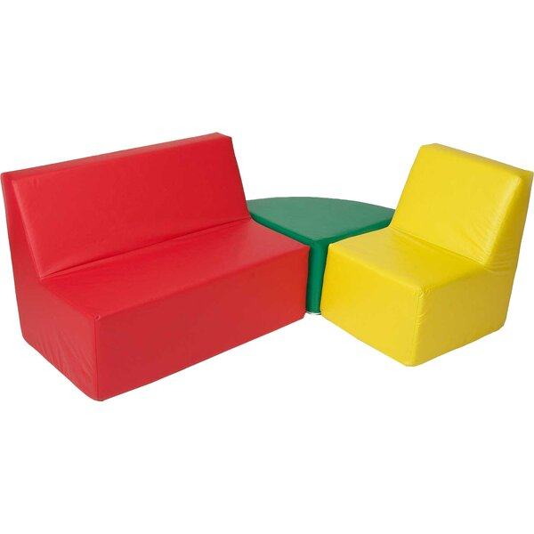 Straight Back 3 Piece Soft Seating by Foamnasium