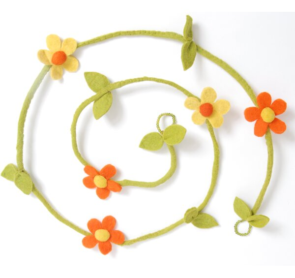 Felt Flower Christmas Garland (Set of 2) by Arcadia Home