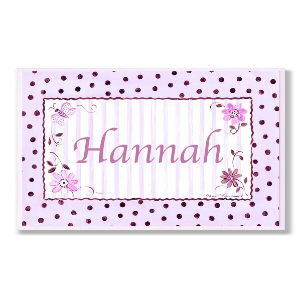 Kids Room Personalization Polka Dot Wall Plaque by Stupell Industries