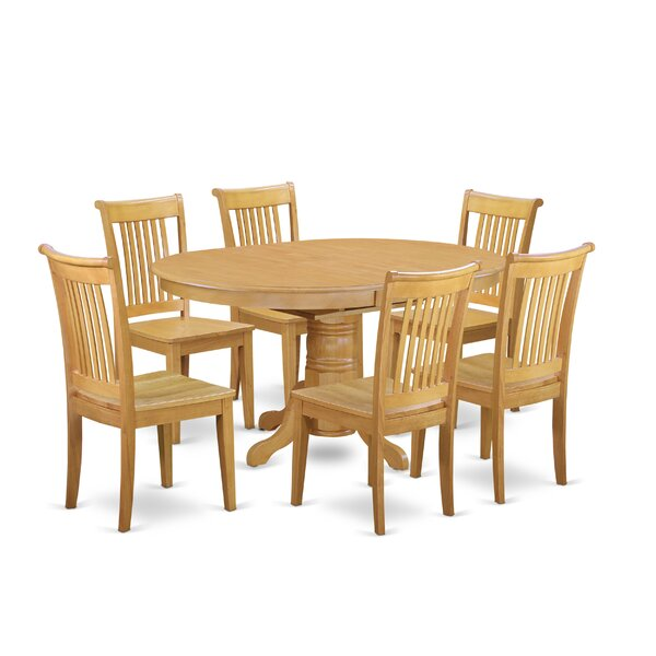 Spurling  7 Piece Solid wood Dining Set by Alcott Hill Alcott Hill