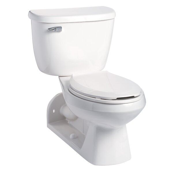 Quantum Pressure-Assist 1.28 GPF Elongated Two-Piece Toilet by Mansfield Plumbing Products