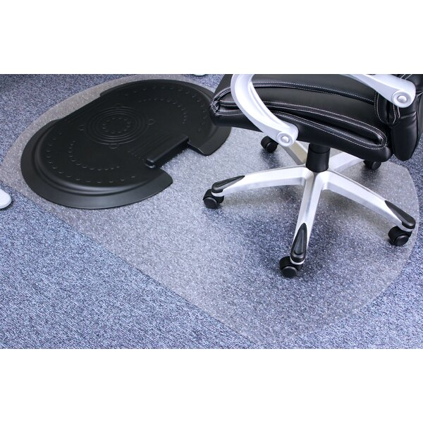 Sit and Stand Ergonomic Solution Medium Pile Carpet Beveled Chair Mat by Floortex