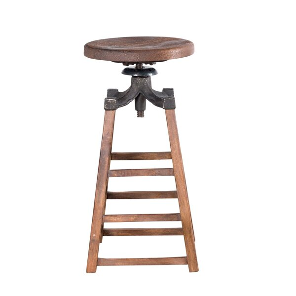 Huddersfield Adjustable Height Bar Stool by Williston Forge