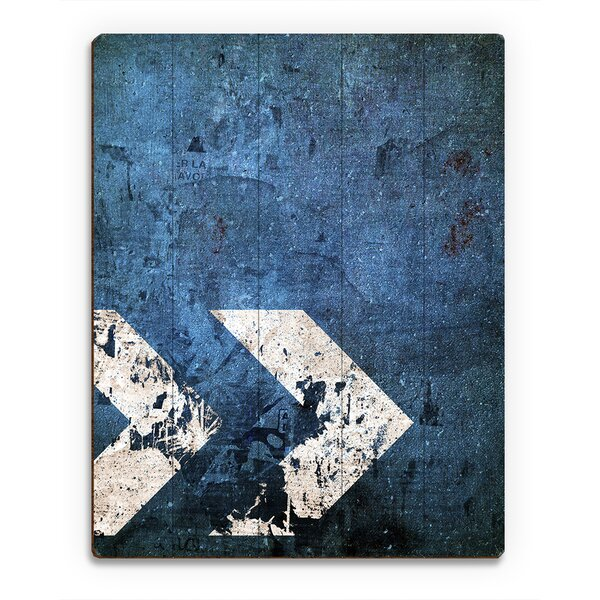Industrial Direction Graphic Art on Plaque by Click Wall Art