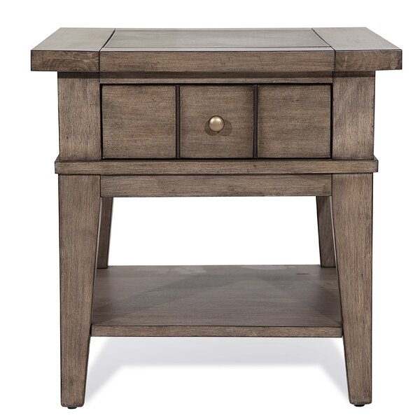 Eisley End Table With Storage By Millwood Pines