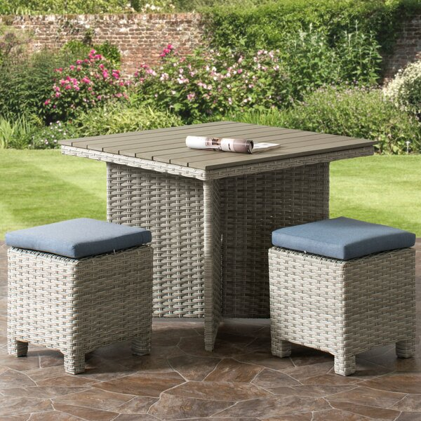 Killingworth 3 Piece Standard Height Dining Set by Rosecliff Heights