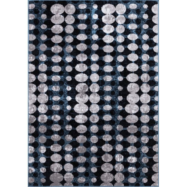 Eells Gray/Navy Area Rug by Orren Ellis