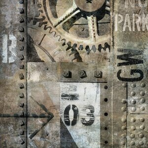 'Industrial I' Graphic Art Print on Canvas by East Urban Home