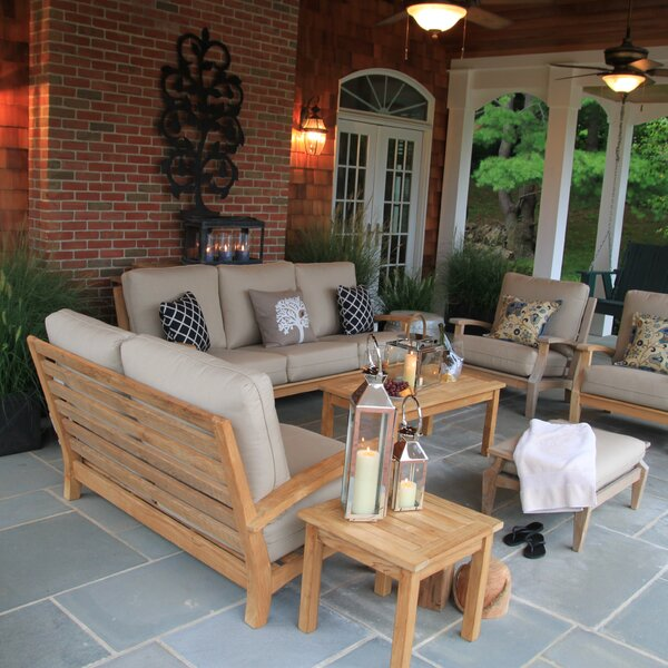 Boyle Deep Seating Group with Cushions by Rosecliff Heights