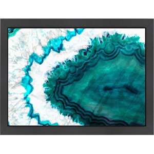 Teal Agate Framed Graphic Art by Americanflat