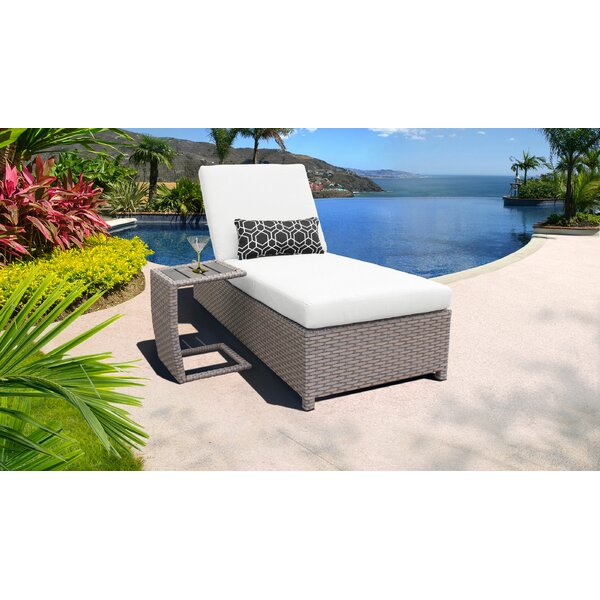 Rochford Sun Reclining Chaise Lounge with Cushion and Table