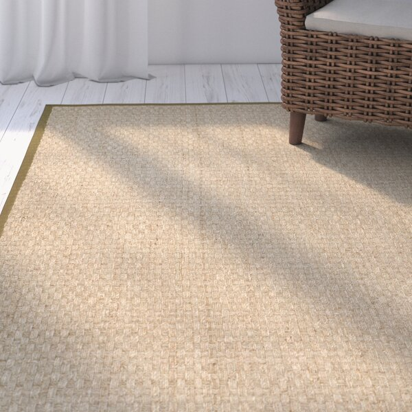 Greene Hand-Woven Beige Area Rug by Beachcrest Home