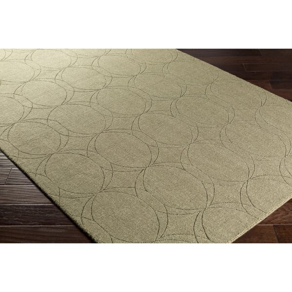 Belle Hand-Loomed Green Area Rug by Wrought Studio