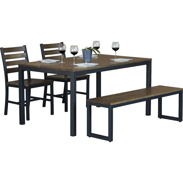 Loft 4 Piece Dining Set by Elan Furniture