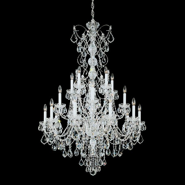 Century 20 - Light Candle Style Tiered Chandelier with Crystal Accents by Schonbek Schonbek
