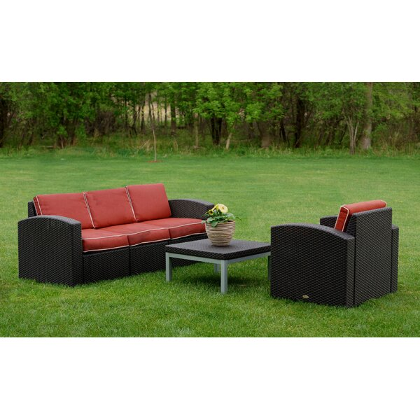Loggins 3 Piece Sofa Seating Group with Cushions by Brayden Studio