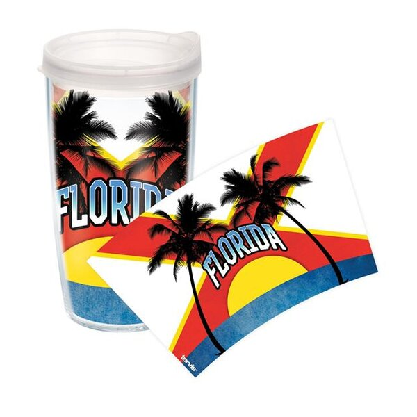 American Pride Florida Flag Colossal Plastic Travel Tumbler by Tervis Tumbler