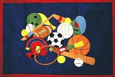 Supreme American Sports Area Rug by Fun Rugs