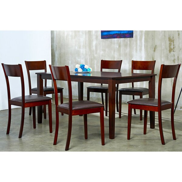 Ida 7 Piece Solid Wood Dining Set by Warehouse of Tiffany
