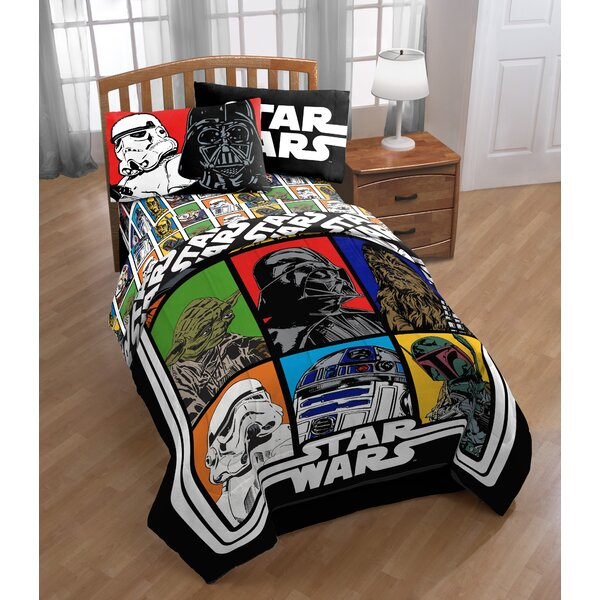 Classic Full Polyester 4 Piece Sheet Set by Star Wars