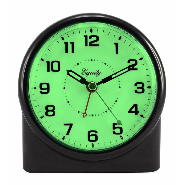 Backlit Analog Alarm Tabletop Clock by Wind & Weather