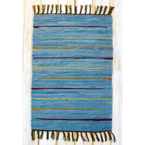Canyon Blue Stripe Area Rug by CLM