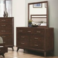 Zeta 7 Drawer Dresser with Mirror by Mercury Row