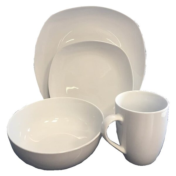 Bulger 16 Piece Dinnerware Set, Service for 4 by Ebern Designs