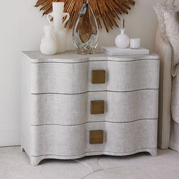 Toile 3 Drawer Accent Chest