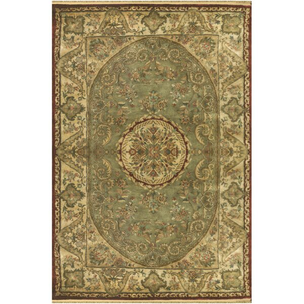 Savonnerie Hand-Tufted Sage Green Area Rug by American Home Rug Co.