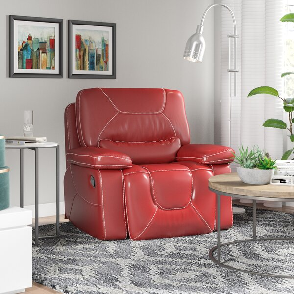 Lockheart Leather Manual Glider Recliner by Latitu