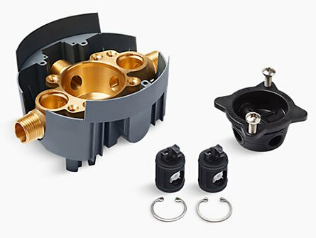 Rite-Temp Valve Body Rough-In with Service Stops and Universal Inlets by Kohler