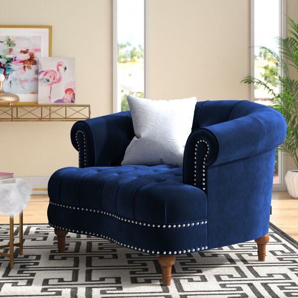 Mowry 23-inch Chesterfield Chair by House of Hampton House of Hampton