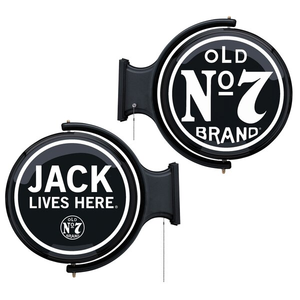 Jack Lives Here Rotating Pub Light by Jack Daniel'