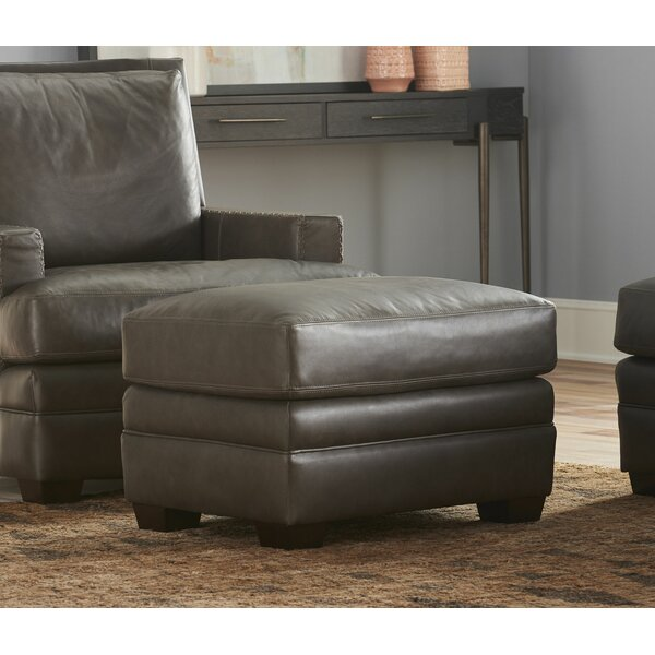 Mutlu Leather Ottoman By Latitude Run