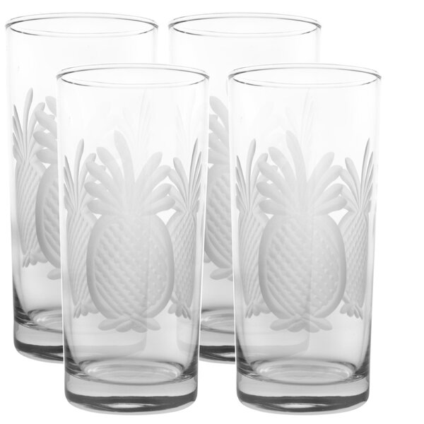 Pineapple 15 oz. Highball Glass (Set of 4) by Rolf Glass