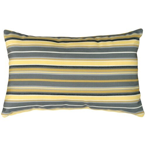 Elodia Metallic Outdoor Sunbrella Lumbar Pillow by Longshore Tides