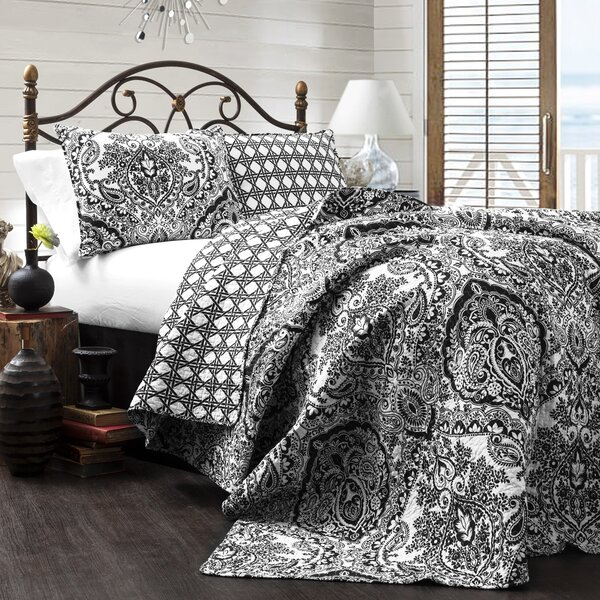 Jeske 3 Piece Reversible Coverlet Set by Three Posts