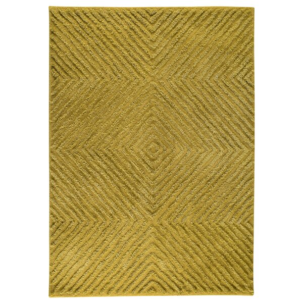 Wilma Yellow Area Rug by Union Rustic