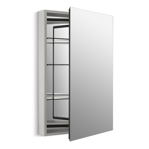Catalan 24-1/8 x 36 Aluminum Single-Door Medicine Cabinet with 170 Degree Hinge by Kohler