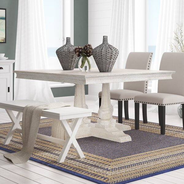 Greenfield Solid Wood Dining Table by Rosecliff Heights