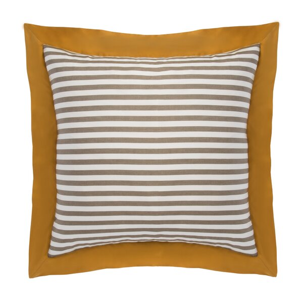 Draper Stripe Ash Euro Sham (Set of 2) by DwellStudio