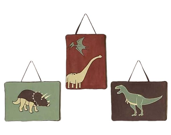 3 Piece Dinosaur Land Wall Hanging Set by Sweet Jojo Designs