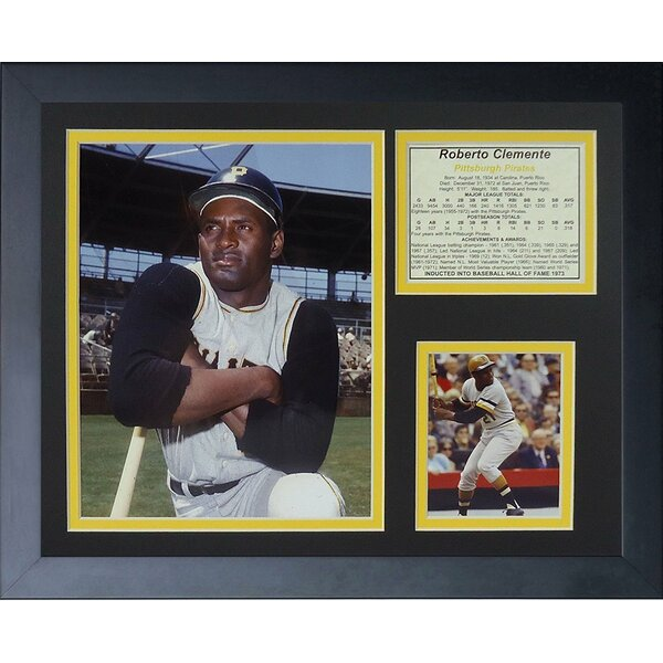 Roberto Clemente Portrait Framed Photographic Print by Legends Never Die