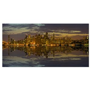 San Francisco at Sunset Panorama Cityscape Photographic Print on Wrapped Canvas by Design Art