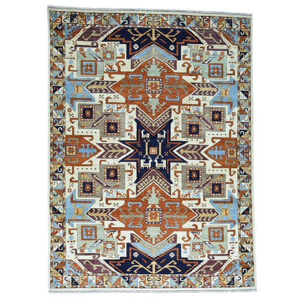 One-of-a-Kind Tilomar Hand-Knotted Beige Area Rug by Millwood Pines