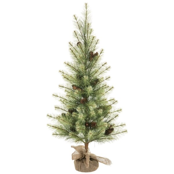 Black Hills Pine Tree in Canvas Base by The Holiday Aisle