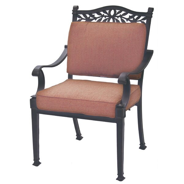 Fairmont Stacking Patio Dining Chair with Cushion (Set of 4) by Astoria Grand