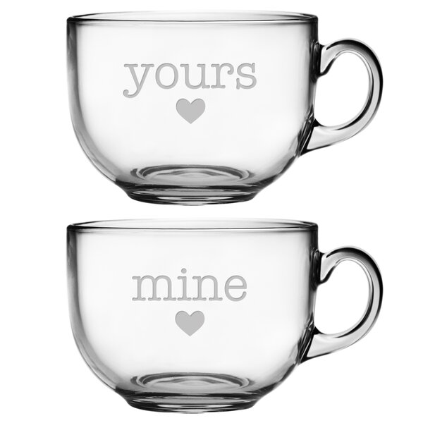 Yours and Mine Jumbo Mug by Susquehanna Glass